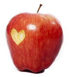 Apple with a heart Stock Photography