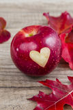 Apple with a Heart Stock Images