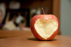 Apple heart Stock Images