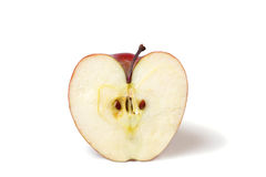 Apple with heart shape Royalty Free Stock Images