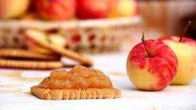 Apple hecho en casa atasca Imagen de archivo libre de regalías