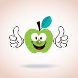 Apple-het karakter van het mascottebeeldverhaal Royalty-vrije Stock Afbeeldingen