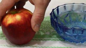 Apple-het wassen stock footage