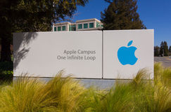 Apple högkvarter i Silicon Valley Arkivbild