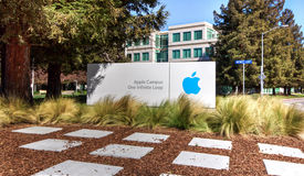 Apple högkvarter i Silicon Valley. Royaltyfria Foton