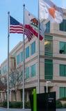 Apple högkvarter på den oändliga öglan i Cupertino Royaltyfri Bild