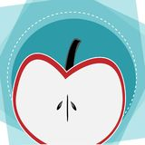 Apple-Hintergrundwerbe-ideen-Design lizenzfreie abbildung