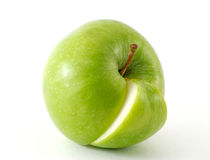 Apple and his quarter Stock Photography