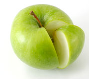 Apple and his slice. Isolated Stock Photography
