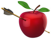 Apple hit by arrow (Hi-Res) Royalty Free Stock Photo