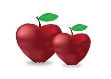 Apple hjärtor Arkivfoto