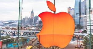 Apple HK skylt royaltyfri bild