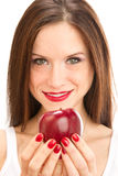 Woman Manicured Hands Holding Apple Fruit Food Stock Photography