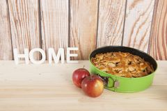 apple home made pie Στοκ Εικόνα