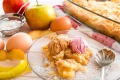 apple home made pie Στοκ Φωτογραφία