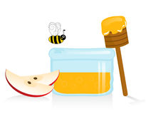 Apple and Honey stock photos
