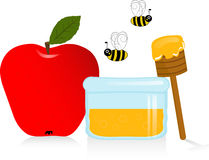 Apple and Honey Royalty Free Stock Photo