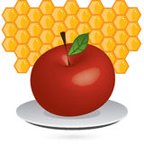 Apple_honey Royalty Free Stock Images