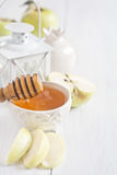 Apple and honey background Stock Photography