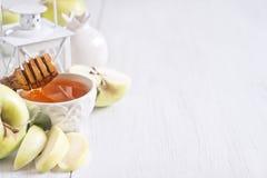 Apple and honey background Stock Photo