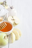 Apple and honey background Royalty Free Stock Photos
