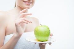 Apple and honey closeup portrait Stock Images