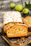 Apple and honey loaf cake Royalty Free Stock Image