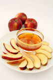 Apple and honey vertical Royalty Free Stock Images