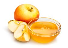Apple and honey Stock Images