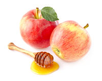 Apple with honey Royalty Free Stock Image