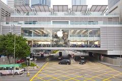 apple Hong inc kong άνοιξε το κατάστημα Στοκ εικόνα με δικαίωμα ελεύθερης χρήσης