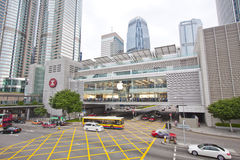 apple Hong inc kong άνοιξε το κατάστημα Στοκ Εικόνες