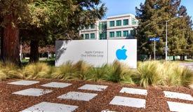 Apple-Hoofdkwartier in Silicon Valley. Royalty-vrije Stock Foto's