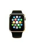 Apple-Horloge op wit wordt geïsoleerd dat Stock Foto