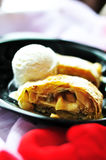 Apple hot strudel Royalty Free Stock Images