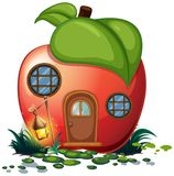 Apple house with lantern. Illustration Stock Images