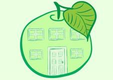 Apple hus Arkivfoton