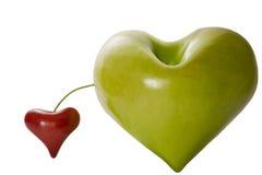 Apple i czereśniowa urocza fantazja ilustracja wektor