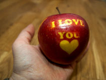 Apple I love you Royalty Free Stock Photos