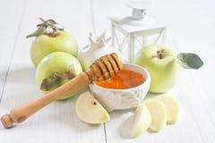 Apple i miód Obraz Royalty Free