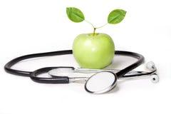 Apple i stetoskop Fotografia Royalty Free