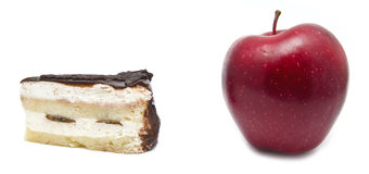 Apple i tort Zdjęcia Stock