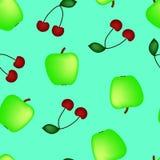 Apple i wiśnia Zdjęcia Royalty Free