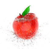 Apple ice. Apple covered with ice breaks Stock Photography