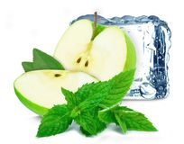 Apple and ice Royalty Free Stock Photography