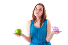 An apple or ice creams? Royalty Free Stock Photography