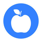Apple icon black. Singe fruit icon. Stock Photo