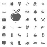 Apple icon. Camping and outdoor recreation icons set.  Stock Photo