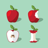Apple icon collection. Stock Photo