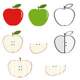 Apple. Icon Apple. Flat design, illustration royalty free illustration